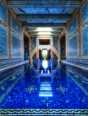 The Azure Blue Indoor Pool at Hearst Castle (Stuck in Customs) Tags: hearst castle hearstcastle pool indoor indoorpool regal blue stuckincustoms trey ratcliff stuck customs blog photography hdr high dynamic range digital imaging travelblog nikon d3x color travel north america united states usa west coast pacific california azure water ornate tile ceramic reflect reflection confluence interior january 2010 design architecture building julia morgan william randoph hill la cuesta encantada san simeon rancho piedra blanca palatial estate mansion world state historic park enchanted ranch