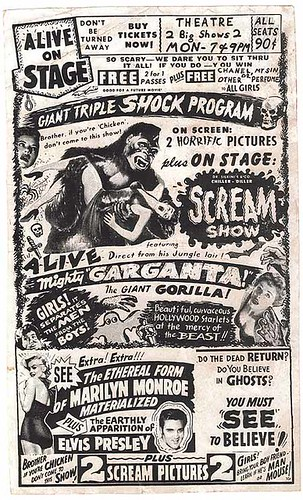 TRIPLE SHOCK PROGRAM Flyer featuring MIGHTY GARGANTA