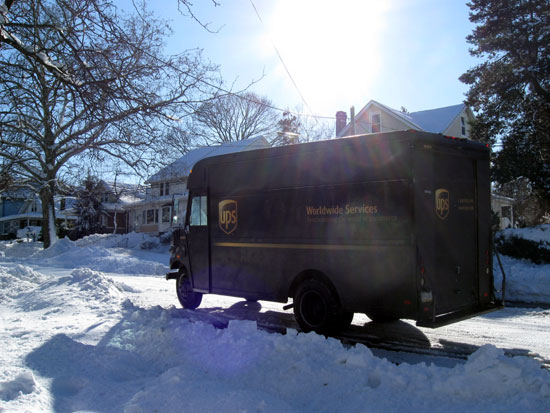 UPS Truck in Snow