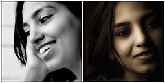 Different shades (anita anand) Tags: friends portrait bw woman india face collage sepia indian teacher bubba vijaya asb vijayaparyani