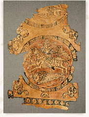 Cavaliers (julianna.lees) Tags: ancient silk shroud textiles sassanian doubleheaded sassanid suaire