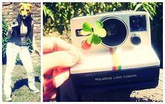 Polaroid love! (Camdiluv ) Tags: camera girl face polaroid tiger land mascara clover