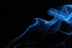Smoke art (Saptak Ganguly) Tags: blue abstract nikon pattern smoke fluid complex soe d40 smokeart flickricious365