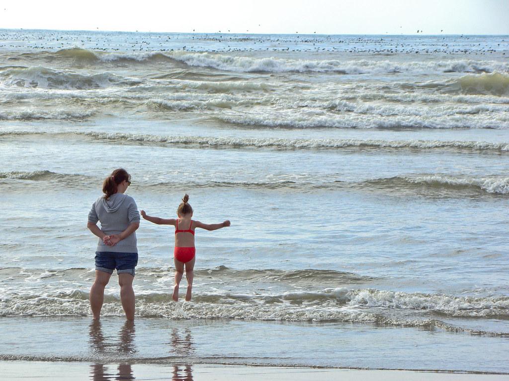 Maddie & Marci at the beach