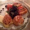 Terrine von mediterranem Gemüse mit Jakobsmuscheln und Safran-Mayonnaise