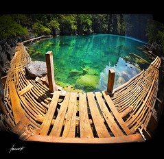 Kayangan Lake (Tomasito.!) Tags: ocean chile wood travel blue sea summer panorama lake fish seascape green tourism beach water photoshop macintosh landscape yahoo google interesting nikon rocks asia southeastasia flickr paradise stitch crystal philippines wideangle tourist panoramic leopard walkway mostinteresting stitching traveling picturesque magi
