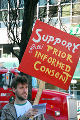 Support free, prior, and informed consent