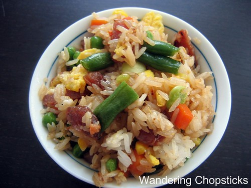 Fried Rice with Chinese Sausage, Frozen Mixed Vegetables, and Eggs 2