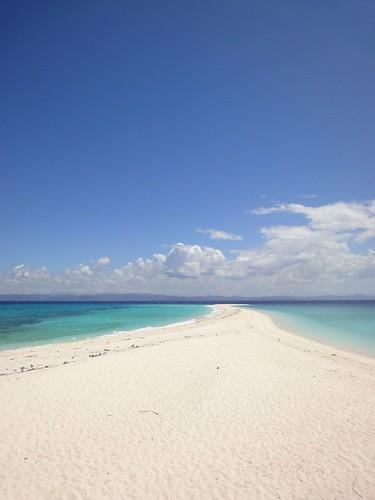 无人岛S形海滩
