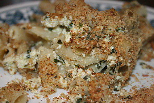 tofu spinach ziti