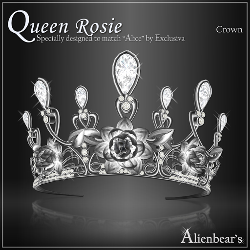 Queen Rosie Dark Crown white