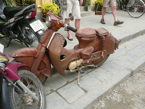A leather scooter