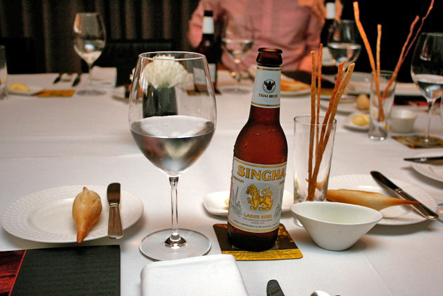 Can you picture Singha Beer at a fine-dining establishment?