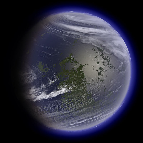 Terraformed Moon From Earth