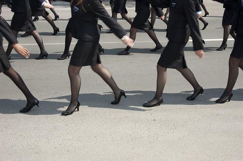 Marching in Heels