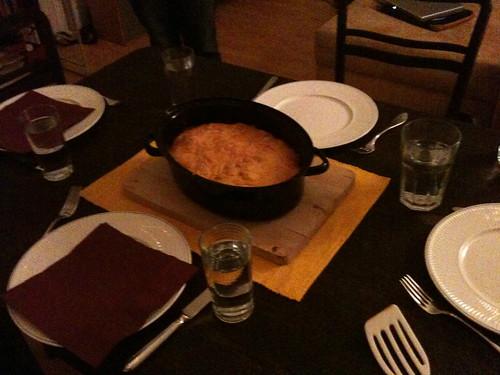 Lasagne auf dem Tisch