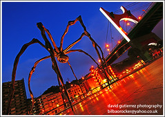 The Maman Art of Bourgeois - Bilbao (davidgutierrez.co.uk) Tags: city blue urban building art museum architecture night buildings dark spectacular geotagged photography spider photo arquitectura cityscape darkness image dusk sony centre cities cityscapes center structure architectural bilbao nighttime 350 hour architektur nights sensational guggenheim metropolis bluehour alpha maman brige impressive louisebourgeois dt nightfall municipality edifice cites f4556 1118mm sonyalphadt1118mmf4556 lasalvebilbao2009 sony350dslra350