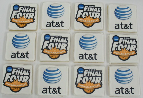 [Image from Flickr]:NCAA and At&t logo cookies