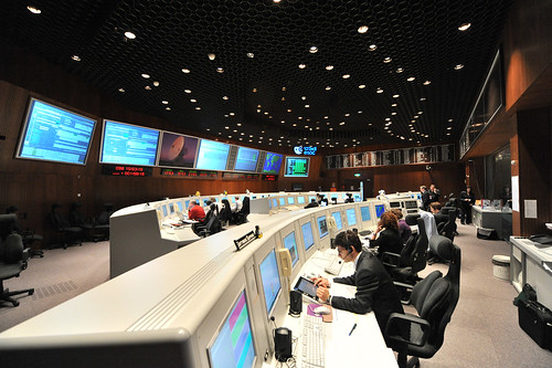 CryoSat-2 launch event at ESOC: Main Control Room
