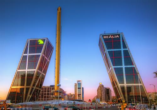 Plaza de Castilla, Madrid, HDR