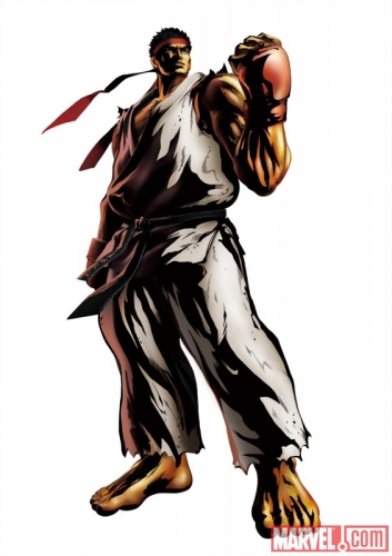 Marvel vs Capcom 3 Fate of Two Worlds Ryu Promo Art