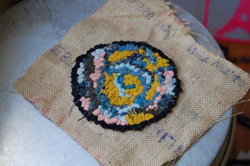 hooked wool, rug hooking, handmade