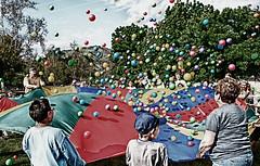 Parachute Fun! (Tonym1) Tags: trees green kids landscape parachute wondervalleyranch