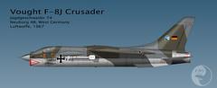 WHAT IF? Luftwaffe F-8 Crusader JG74 1967 (The Chicken Works) Tags: f8 crusader luftwaffe vought aviationart