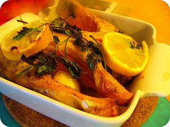 三文鱼 Roasted Salmon (11楼朝北) Tags: fish dish cook salmon homemade bake 随便做 简单吃 家里吃