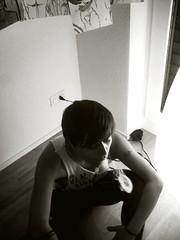 smoking (Jem Kuhn) Tags: selfportrait blakandwhite smoking