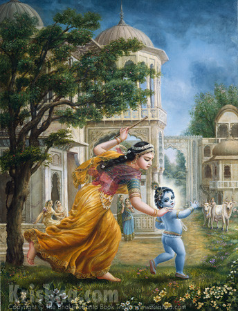 Mother Yasoda Chases Krishna