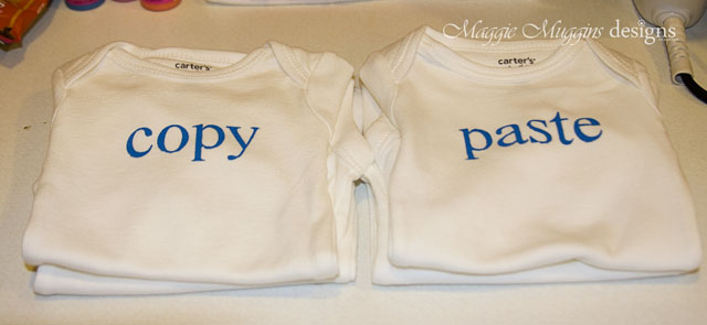 Copy & Paste Twin Onesies