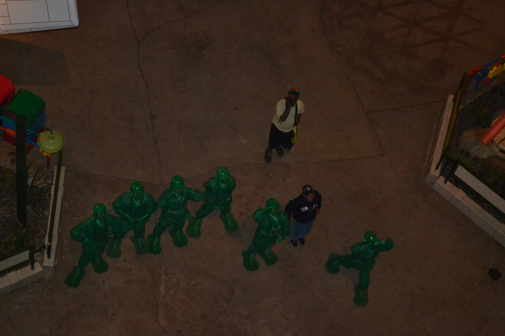 Green Army Men greet us at Toy Soldier Parachute Drop
