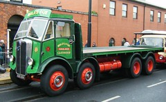 Vintage HGV - Miles Fox , Clitheroe, Lancashire (rossendale2016) Tags: hgv vintage miles fox clitheroe england ribble valley transport lancashire east countryside picturesque eight wheeler wheeled flat backed