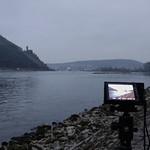 Rhein bei Bingen mit Burg Ehrenfels thumbnail