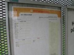 Busstidtabell i Furutorp 2009
