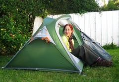 Unser neues Zelt