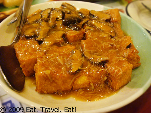 Fried Tofu with Mushrooms