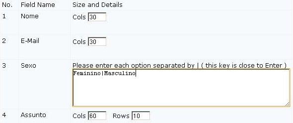 Criar formulário de contato passo 3.