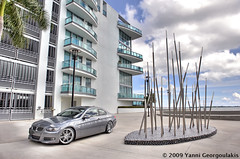 BMW 335i E92 Space Grey Linea Corse Dyna Downtown Miami (Yankis) Tags: car grey nikon inch downtown photoshoot miami corse space gray bmw rims 2008 19 coupe d3 linea brickell modded coilovers 3series yanni dyna 19s 335 2470 e92 335i georgoulakis