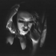 Angels & Saints (Holga-Jen) Tags: longexposure light portrait blackandwhite bw woman white selfportrait black film girl saint angel self mediumformat dark square holga mood candle emotion toycamera grain dream plastic hp5 ilford autaut