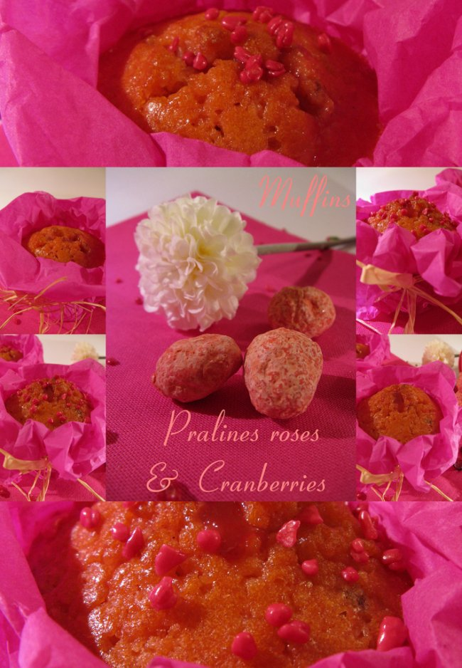 Muffins pour les filles, Pralines roses & Cranberries_4