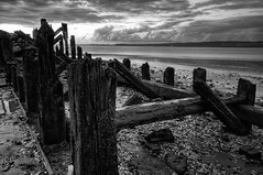 A Bit Of A Mess (Esther Seijmonsbergen) Tags: old uk sunset england clouds photography mono twilight exposure dusk decay jetty lincolnshire remains hdr humber digitl 5xp humberestuary estherseijmonsbergen wwwdigitalexposurephotographycom
