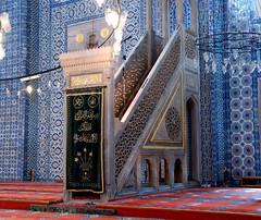 Rustem Pasa Mosque   ....Istanbul (keithhull) Tags: blue turkey istanbul mosque tiles izniktiles rustempasamosque minbar rustempasacamii