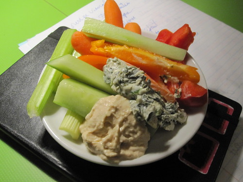Veggies and dips from the bistro - free