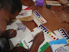 Art at Jacaranda with supplies donated by SAS (robpei10) Tags: jacaranda