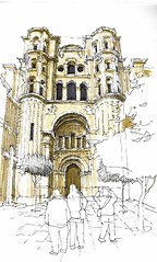 25th sketchcrawl 3 (Luis_Ruiz) Tags: architecture sketch spain cathedral drawing catedral andalucia andalusia dibujo malaga mlaga carnetdevoyage urbansketchers