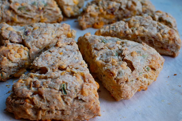 Colby Bacon Scallion Scones