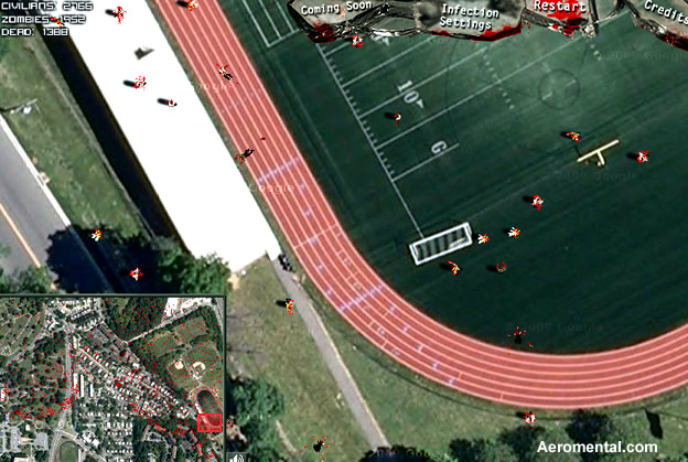 Thumb Zombie Outbreak Sim: Simulador de un Ataque Zombie con Google Maps