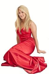 Jess (night photographer) Tags: red portrait canon studio lite eos model dress mark ii blonde backdrop 5d hi lastolite hilite